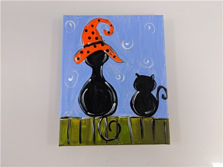 Black Cats Mommy/ Daddy & Me Canvas Class $40 (age 4 and up)