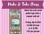 Happy Camper Make & Take Class