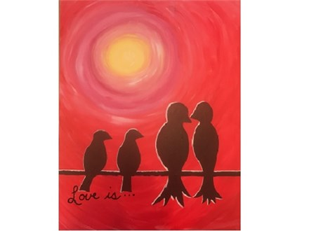 Canvas & Wine Night!  Birds on a Wire! 5/1/17