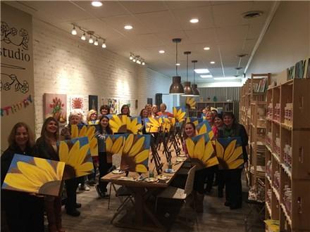 SATURDAY NIGHT BYOB Canvas Paint & Sip Night- East Williston