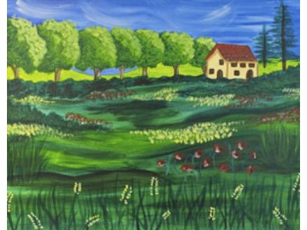 Canvas & Wine Night! Summer in Tuscany! 7/27/17