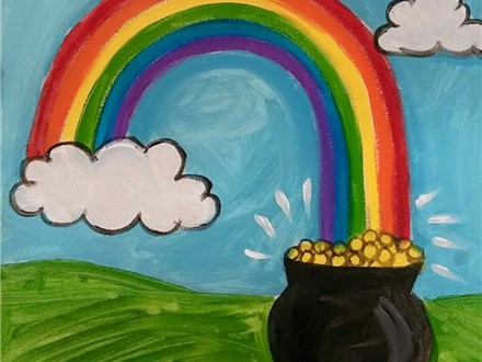 Kid's Canvas Class- Rainbow & Pot of Gold