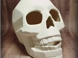 Extra Large Faceted Skull - Ready to Paint