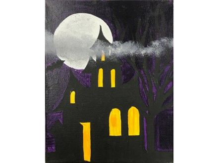 Haunted House Kids Canvas - 10/13