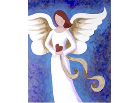 Canvas & Wine Night! Angel of Love! 12/12/17