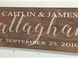Fabulous February Couples Wood Sign