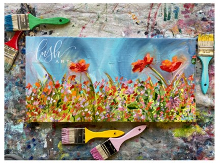 Floral Paint Class - Perry