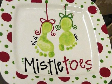 Mistletoes Footprint Plate Workshop - December 8