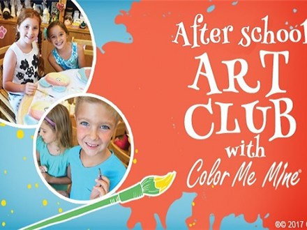 Weekly After School Art Classes at Color Me Mine!