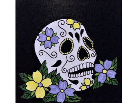 """Canvas Size 12""""x12"""" *choice colors for the flowers."""
