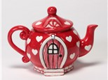 """ Teapot Fairy House"" To-Go Kit-at Color Me Mine - Aspen"