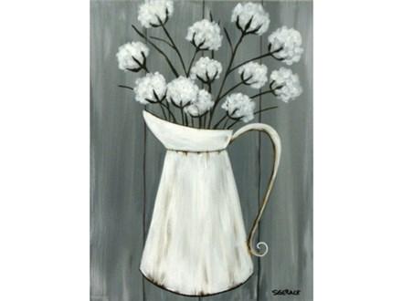 Cotton Pitcher - 12x16 canvas