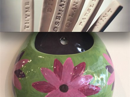 Hanging Planters and Plant Markers! Saturday, May 13th 7-9p