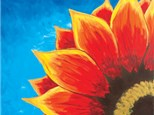 Adult Canvas Night September 4th - Red Sunflower