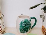 """"""" Monstera Leaf Mug"""" To-Go Kit- at Color Me Mine - Aspen"""