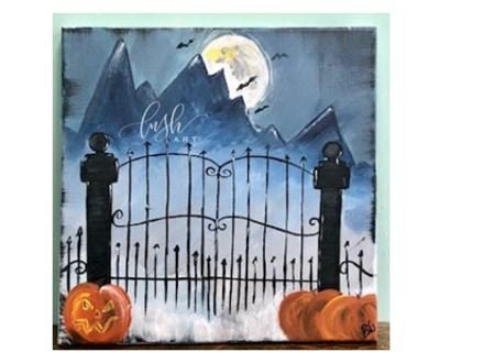 Creepy Gate Paint Class