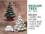 "Light Up Christmas Tree - 12"" Tree (MEDIUM)"