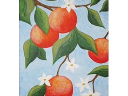 """Paint & Sip """"Orange Tree"""""""