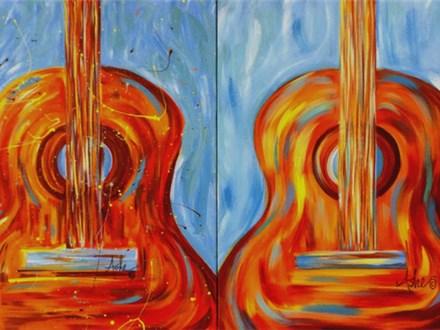 Guitar - canvas 16x20