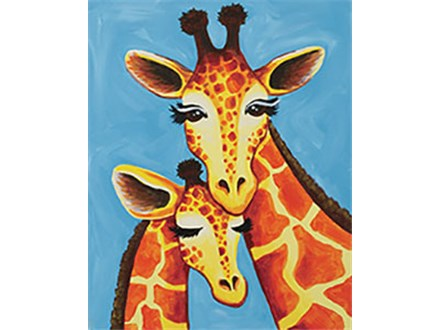 Giraffe Family Canvas Class at CozyMelts