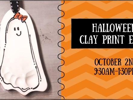 Halloween Clay Prints Event