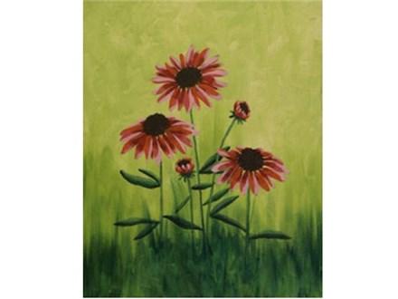 Canvas & Wine Night!  Field Flowers!  7/25/16