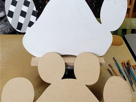 Wood Paw Print To Go Kit