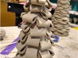 Handbuilt Christmas trees at Broad Ripple
