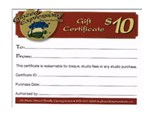 Glazed Expressions Gift Certificates $10, $25, $50, $100