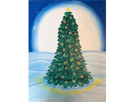 Canvas & Wine Night! Christmas Tree! 12/4/18