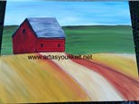 Paint N Party-Barn in field