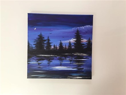 Pretty Pines (adult) Canvas Class