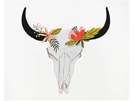 Canvas - Southwest Floral Skull