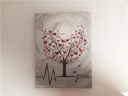 Heart Blossom Tree (CHD Fundraiser) Adult Canvas Class