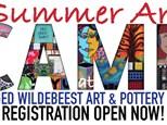 Summer Art Camp Week 8 - HALF DAY 9am - 1pm JULY 31 - AUGUST 4 at Three Legged Wildebeest Art Studi