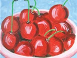 Canvas & Wine Night!  Bowl of Cherries!  1/5/17