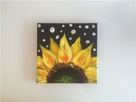 Square Sunflower (adult) Canvas Class