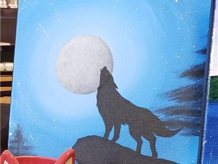 Art Club: Moonlight Wolf