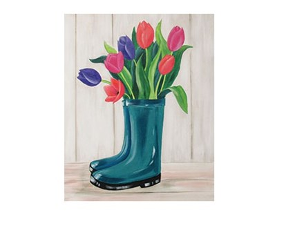 Boot Bouquet - Canvas - Paint and Sip