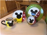 """""""Mickey Mouse"""" - Mickey Mug, Plate, Bowl (pick two) and Movie! Monday, Aug 10th: 10am-3pm"""