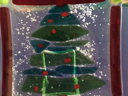 Christmas Tree Fused Glass Project - November 30th