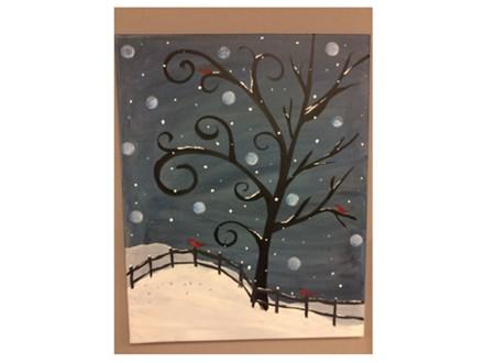 Paint n Sip: Winter Tree