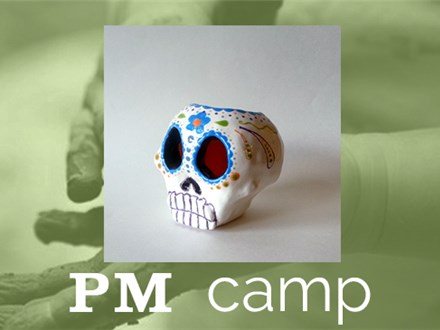 Sugar Skull Votive (Clay at Your Own Risk) August 24th, Afternoon Camp 2017