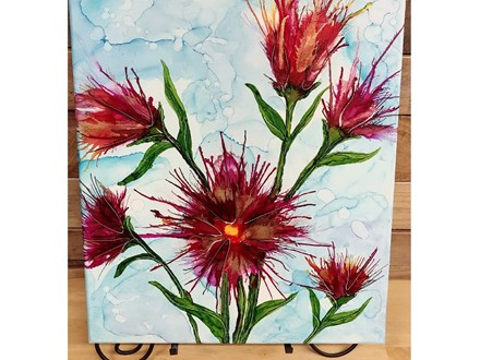 Adult Alcohol Ink Canvas - Flowers - July 27th