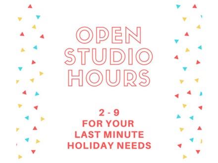 Open Studio - DIY Thursday - Dec 21