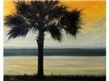 Sunset Palm - 16x20 canvas