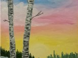 "Canvas Night, ""Winter Sunset,"" January 30th 7-10pm"