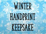 Jan 8 • Winter Hand Print Keepsakes