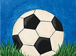 Soccer Time! Kids Canvas Painting, Sat June 9th or Wed June 13th