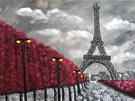 Canvas Night: 'Evening in Paris'